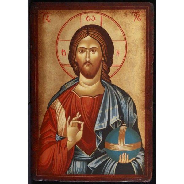 Icoana Mantuitorul Iisus Hristos cu Evanghelia