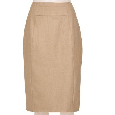 158ef114a81 Tailored Linen Blend oatmeal Pencil Skirt