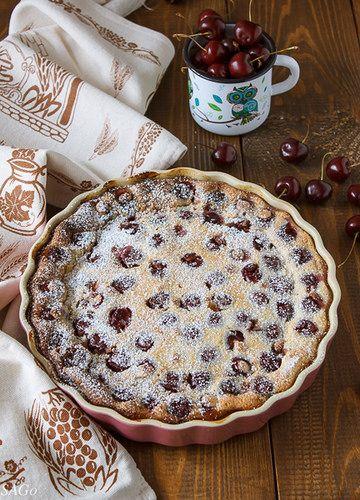 рецепт с фото, рецепт Гордона Рамзи, клафути с черешней, выпечка с миндальной мукой, сладкая выпечка, пирог с черешней, кухня Франции