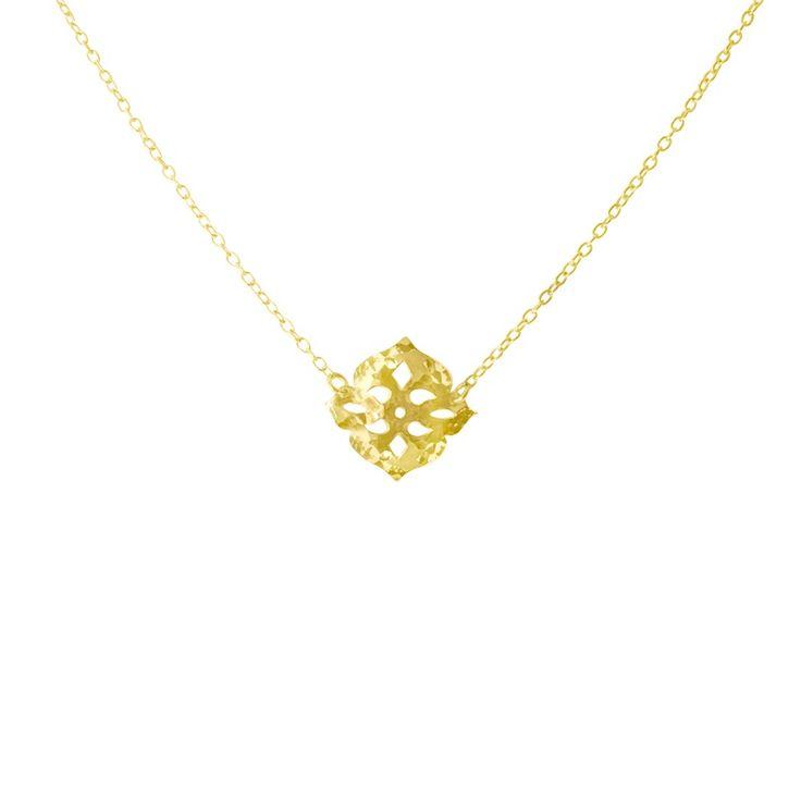 Thai Princess Necklace in Yellow Gold www.murkani.com.au