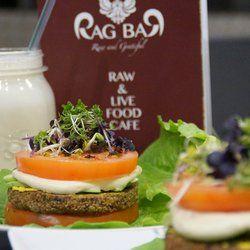 Unglaublich köstlich! Rag Bar - Frankfurt am Main, Hessen, Deutschland. raw vegan burger Leider gibt's die Rag Bar nicht mehr