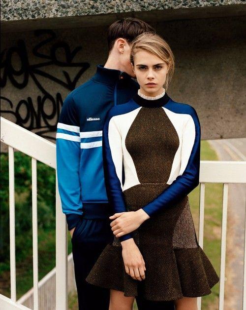 Musings in femininity. British top model #CaraDelevingne in a photo shoot
