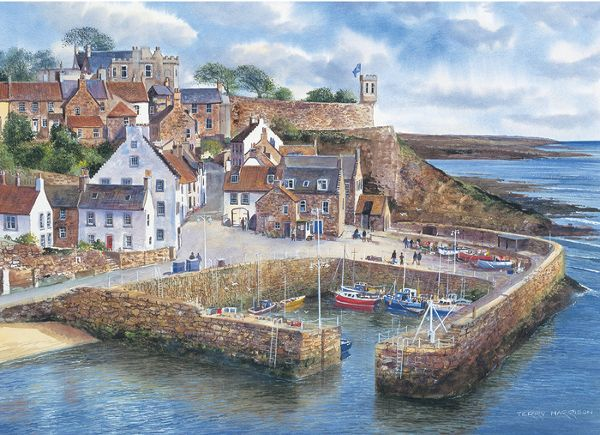 Crail Harbour by Terry Harrison 1000 piece jigsaw puzzle