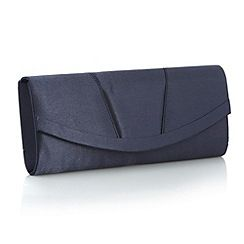 Debut - Navy curved clutch bag - debenhams.com