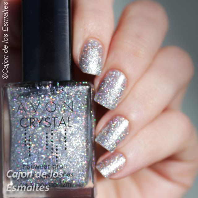 Avon Crystal: ⭐ Hologram Sand ⭐ ... Silver and holographic nail polish
