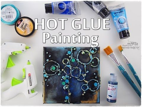 Hot Glue Bubbles Painting Technique for Beginners ♡ Maremi's Small Art ♡ - YouTube