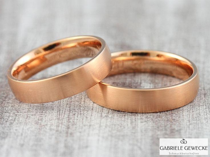 Eheringe rosegold schlicht  Die besten 25+ Ehering rotgold Ideen auf Pinterest | Ring rotgold ...
