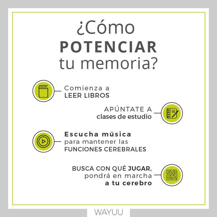 Con cosas tan sencillas como estas puedes ejercitar tu memoria #VidaWayuu #Tips #CrecimientoPersonal #Bienestar #mexicodf #mexican http://wayuume.com