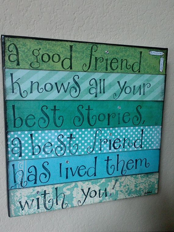 Friend Quotes On Canvas : Meer dan idee?n over best friend canvas op