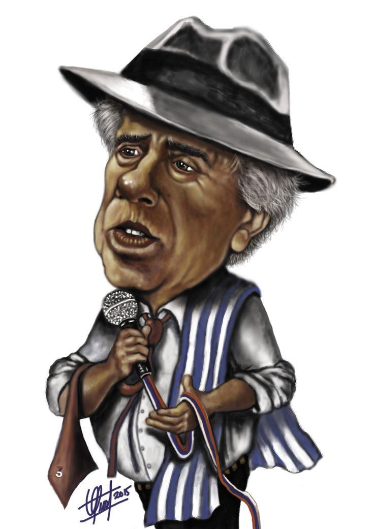 Caricatura del Presidente Tabaré Vázquez para  CARAS & CARETAS