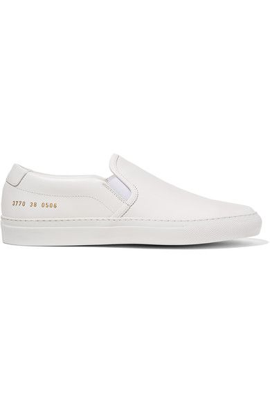 Common Projects - Leather Slip-on Sneakers - SALE20 at Checkout for an extra 20% off