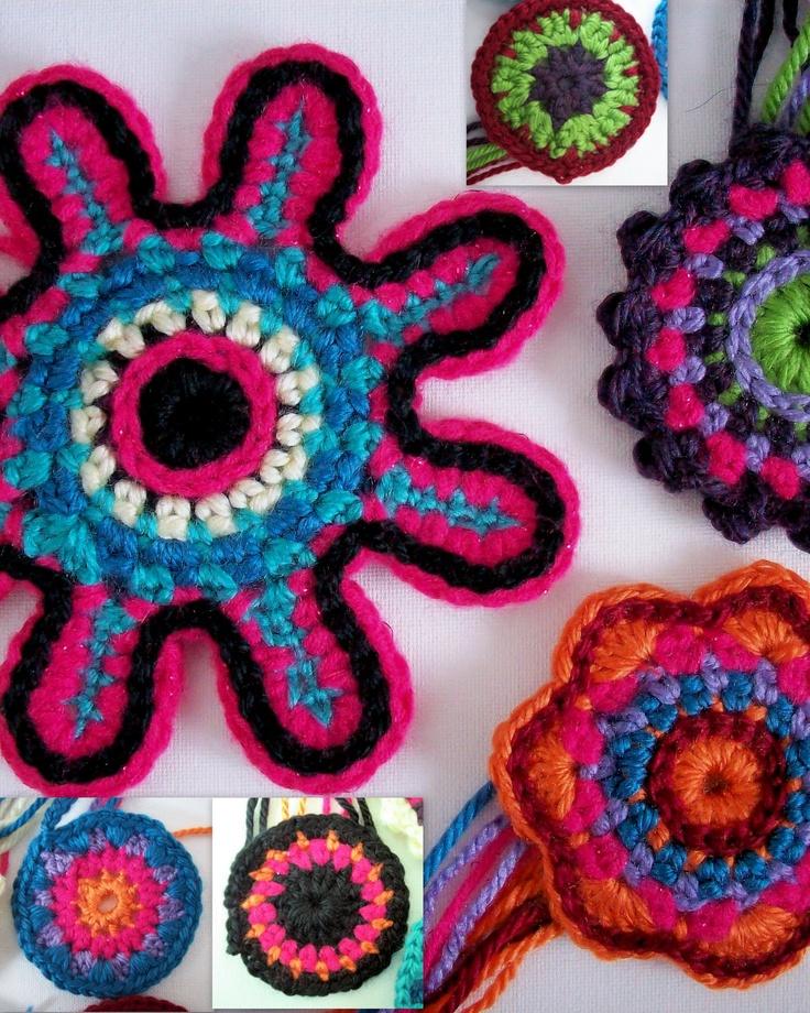 renate artful explorations: Crochet Flowers - Sneak Peek