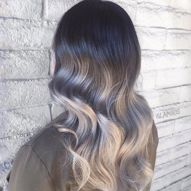 Blond schwarz ombre