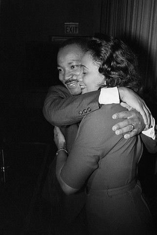 """We must accept finite disappointment, but never lose infinite hope.  --Martin Luther King Jr. (Photo - Martin Luther and  Coretta Scott King)"