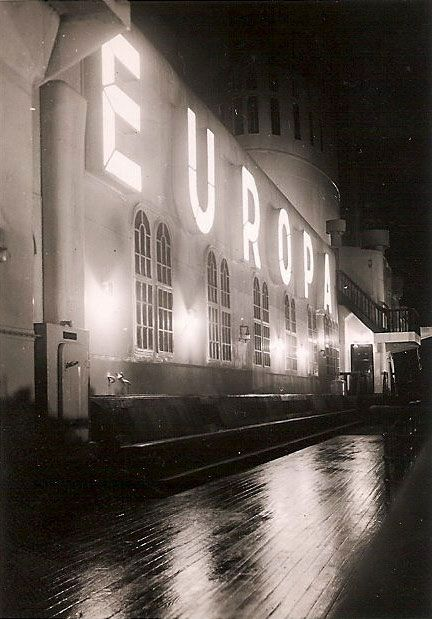 Norddeutscher Lloyd EUROPA Illuminated Name Above First Class Restaurant  Windows, Later 1930s Via Todd Neitring