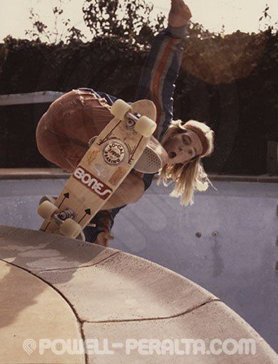 Stacey Peralta, image from the 70′s, a legendary skater/surfer from Venice, Dogtown Z Boys Crew