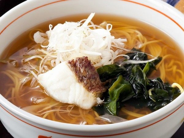Kyukamura sea bream noodles