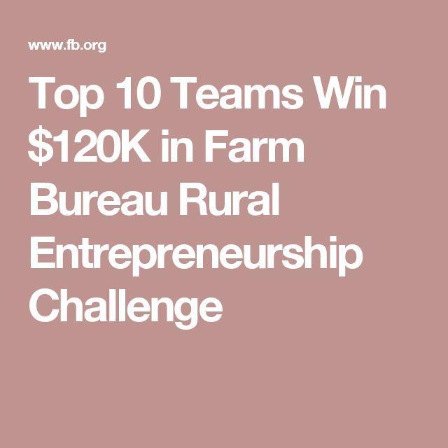 17 Best images about Farm Bureau Rural Entrepreneurship Challenge on Pinterest | Entrepreneur ...