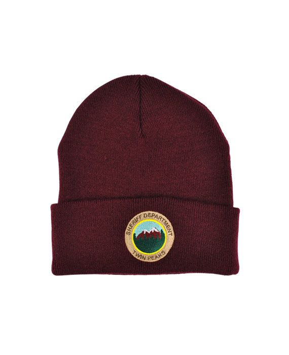 Twin Peaks Sheriff Department Knitted Beanie tv by YouCantGoBack