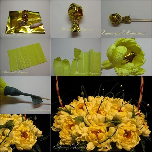 DIY Chocolate Chrysanthemum Flower Bouquet