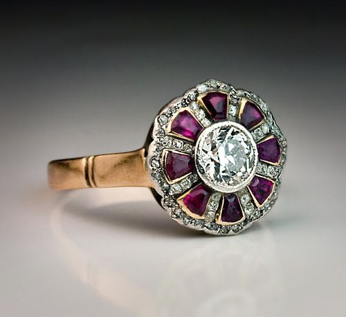 Antique Russian Ruby Diamond Ring image 4