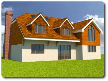 A timber frame kit for a 231 square metre house from Vision Development of Berkshire is priced at £46,910.