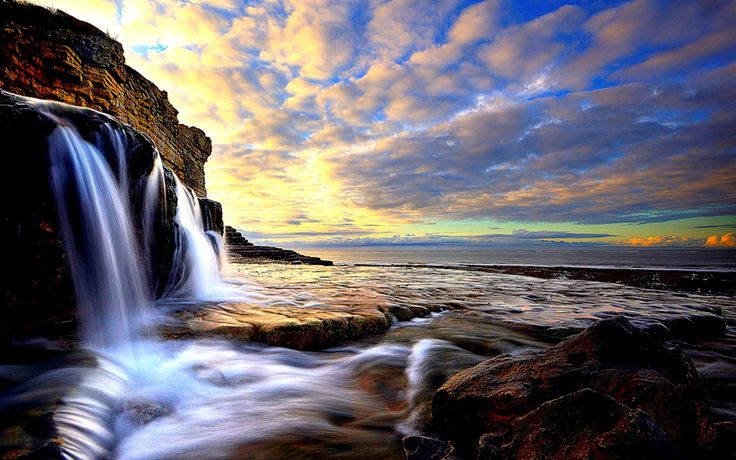 HD Widescreen Wallpaper - waterfall