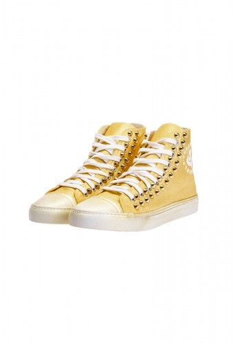 Undersolo Scarpe Sneakers Unisex | Special Gold Borchiate #shoes #sneakers #gold #oro #borchie #studs #studded