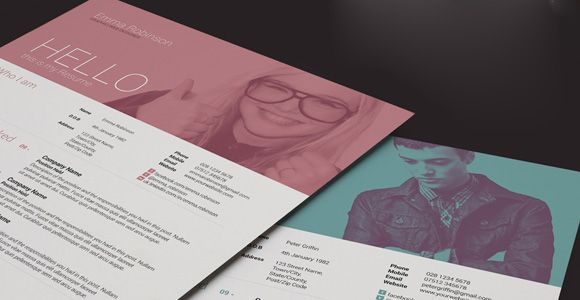 Creative Market, $5 Available as Photoshop PsD and InDesign INDD files