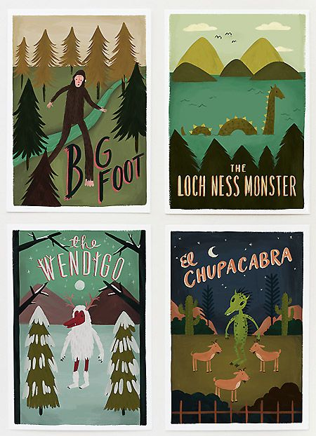 Quill & Fox Urban Legend Monsters | Pretty Paper Things