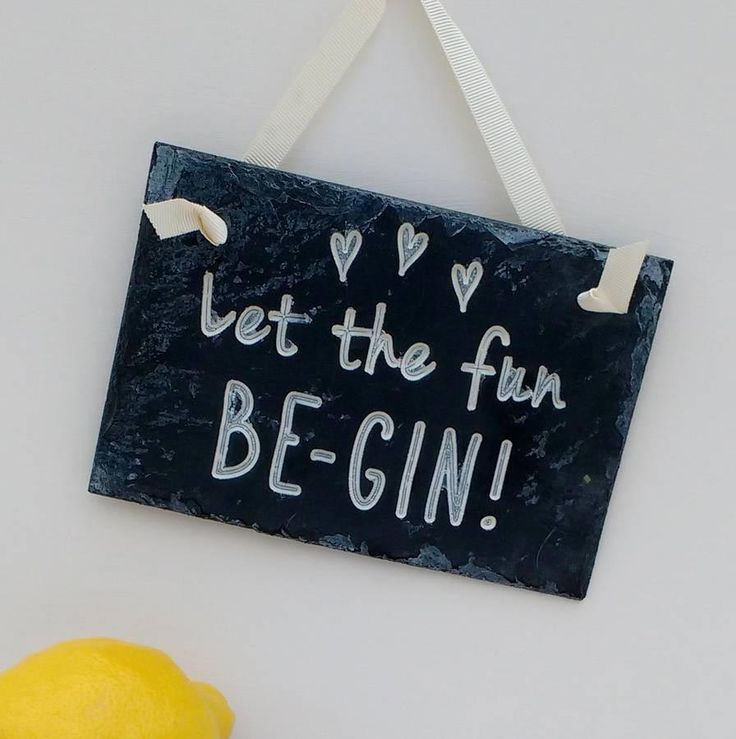 We love a good wedding sign here at hitched – they add to your décor and make sure your guests don't wander off course and get lost. Give yours a gin themed twist to match your wedding theme with this wonderful 'Let the Fun Be-Gin' slate sign from Winning Works.