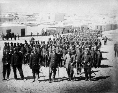 Regimiento Granaderos a Caballo en Antofagasta, año 1879