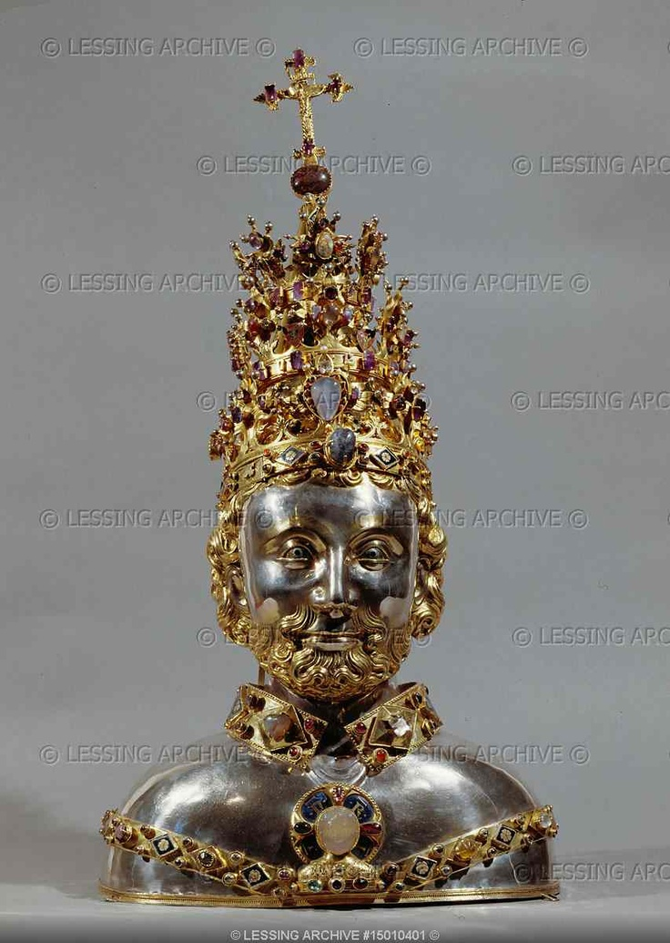 Reliquary bust of St. Cornelius Reliquary / Religious Icons More Pins Like This At : FOSTERGINGER @ Pinterest