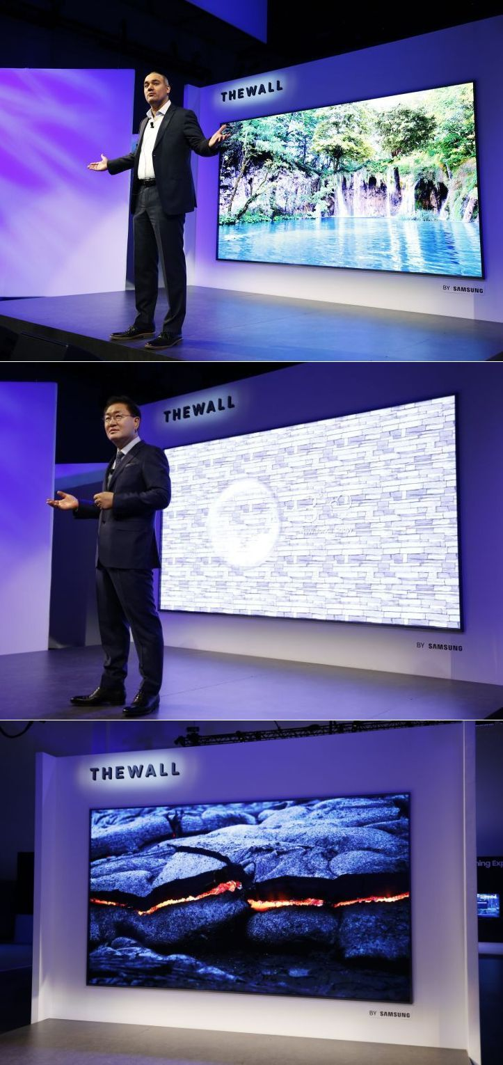 The Wall: Samsung's 146-Inch Modular Display on Show at CES 2018