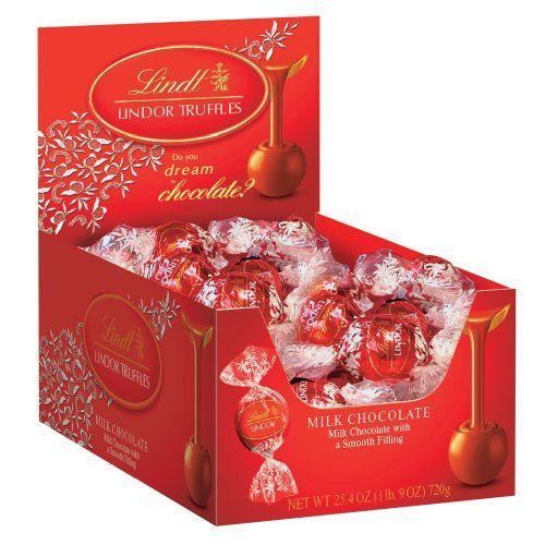 $15.88 Lindt LINDOR Milk Chocolate Truffles, 60 Count Box - http://freebiefresh.com/lindt-lindor-milk-chocolate-truffles-60-review/