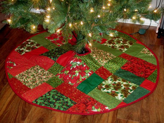 Handmade Quilted Christmas Tree Skirt 47 By CraftyCottonPatch