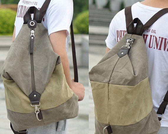 Leisure shoulder bag / Canvas Messenger Bag / by CrazyLeatherBag, $49.00