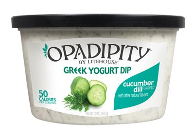 Opadipity Greek Yogurt Dip - Cucumber Dill.  Delicious with Pretzel Crisps!