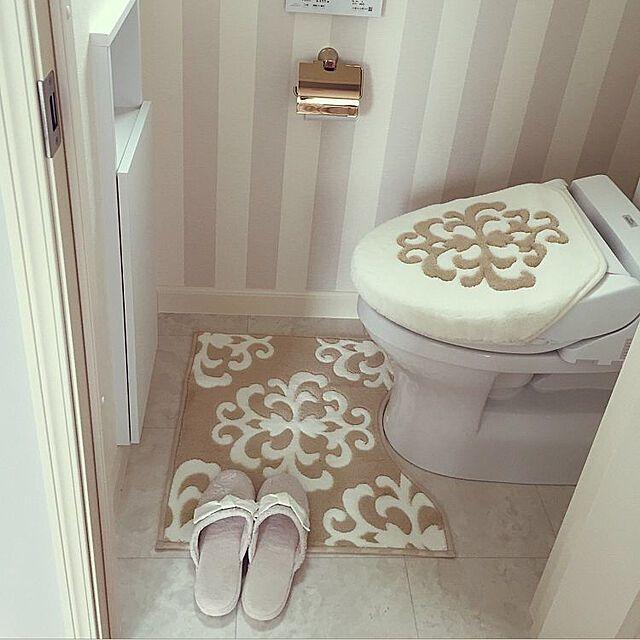 ニトリとしまむらでそろえる トイレマットとフタカバー 2020 画像