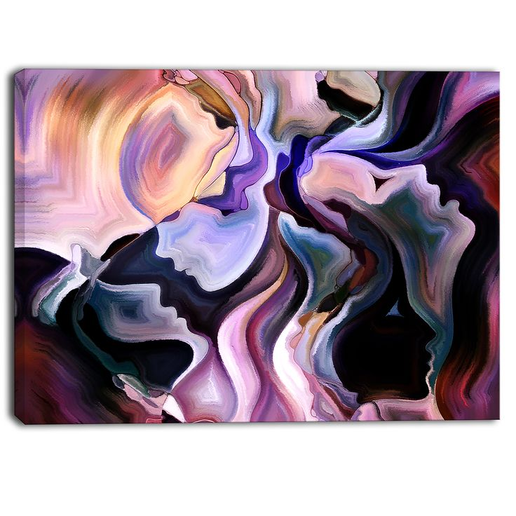 Designart - Voyages to Inner Self - Abstract Canvas Art Print