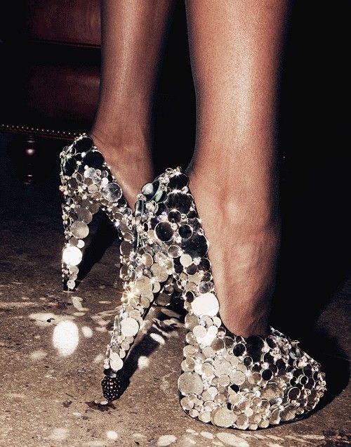 disco ball shoes