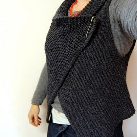 Cuppa & Cake: Simple Knitted Wrap Vest Pattern