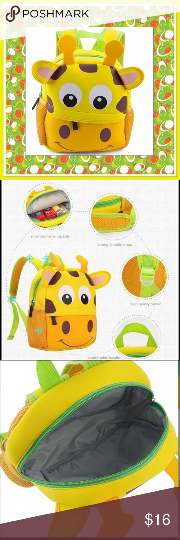 "Kids Cartoon School Bag Kids cartoon durable waterproof school bag, approx 10"" x 10"", fully lined, side netting for small water bottle Accessories Bags"