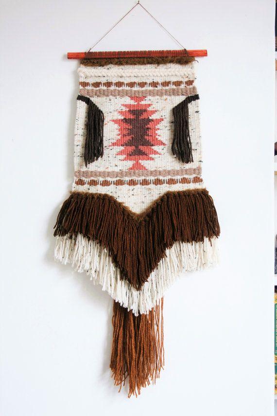 Weaving No.2 | Woven Wall Hanging | Handwoven Tapestry | Textile Art | Navajo Inspired | Native American | Fibre Art | Bohemian Wall Decor