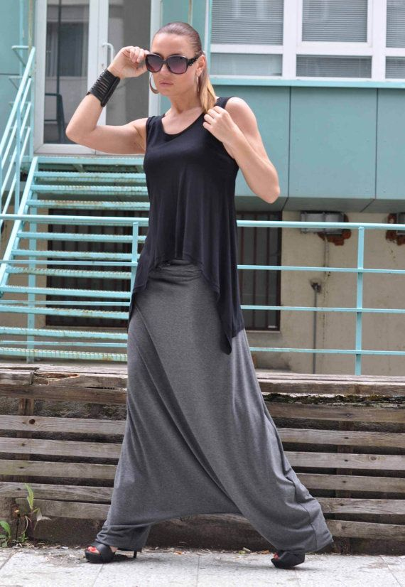 Hey, I found this really awesome Etsy listing at https://www.etsy.com/listing/236111542/new-ss15-harem-pants-gray-cotton-maxi