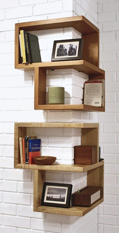 The award nominated Franklin Shelf is a 90 degree corner shelf. This unique design allows for maximum storage space, while occupying a very small area. The smooth wooden finish of this shelf will make a great addition to any corner, table, or desktop. Its sturdy build allows it to be hung or stand on its …