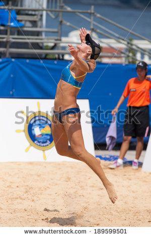 Beach Volley Female Photos et images de stock   Shutterstock