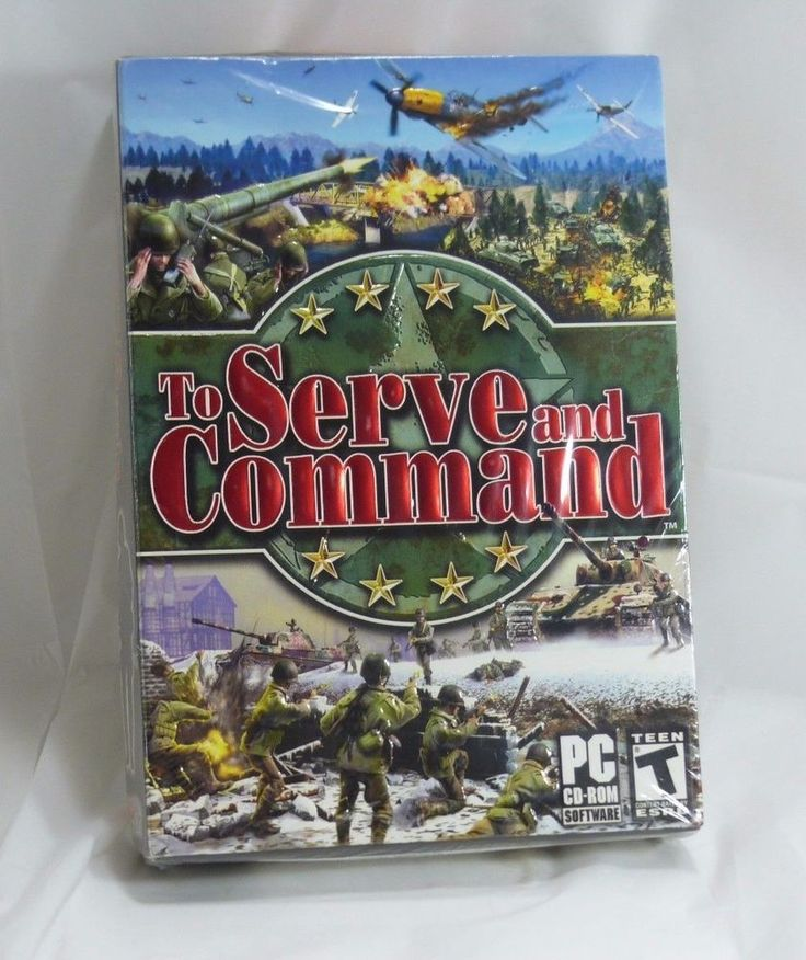 To Serve and Command - NEW Sealed CD Software  Pc Video Game