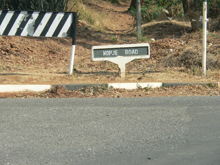 The road I once lived in.  Kopje Road Gwelo Rhodesia.