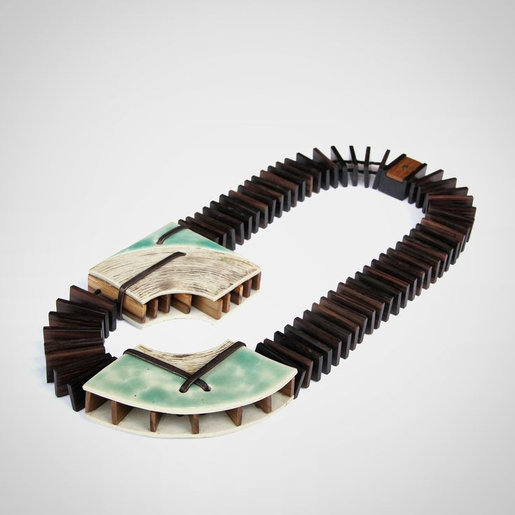 One of the the three jewelry pieces featured at the Jakarta Contemporary Ceramics Biennale